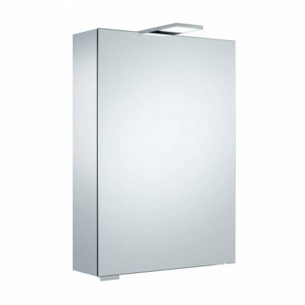 Espejo con almacenamiento de pared con puerta batiente e iluminación LED - Trinquete