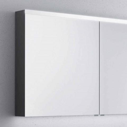 armario con espejo de baño con bañera LED con 2 puertas, diseño moderno, Carol