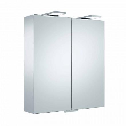 Espejo de pared de lujo con 2 puertas e iluminación LED - Trinquete