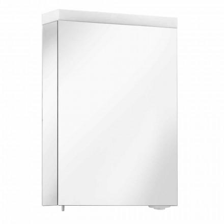 Contenedor de espejo con puerta batiente e iluminación LED, alta calidad - Alfio