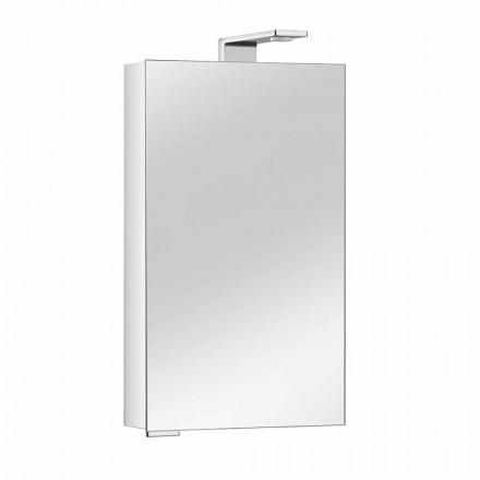Gabinete con espejo con puerta de cristal y detalles cromados, moderno - Maxi