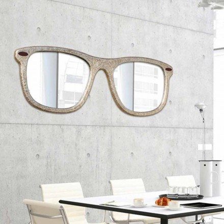 de la pared del espejo muebles en forma de vasos decorados a mano de cristal
