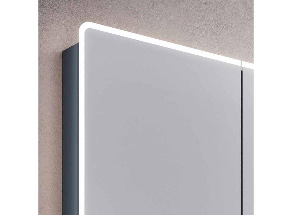 baño-espejo de pared con LED y 3 puertas, diseño moderno, Valter