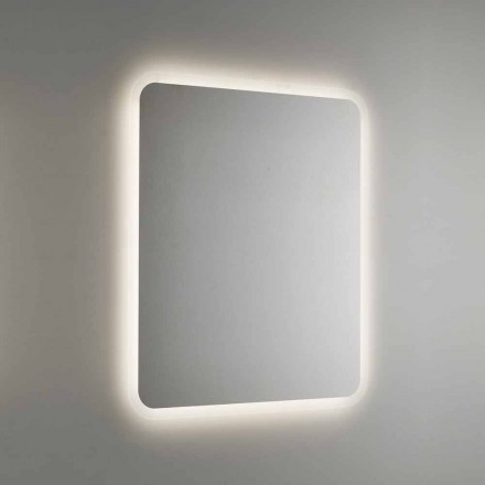 Espejo de baño redondo con retroiluminación LED Made in Italy - Pato