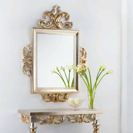 Un espejo de pared clásico de Guy diseño, 113x155 cm, fabricado en Italia