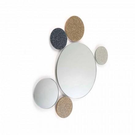 pared de diseño Espejo redondo modeno hecho en Italia ADDO
