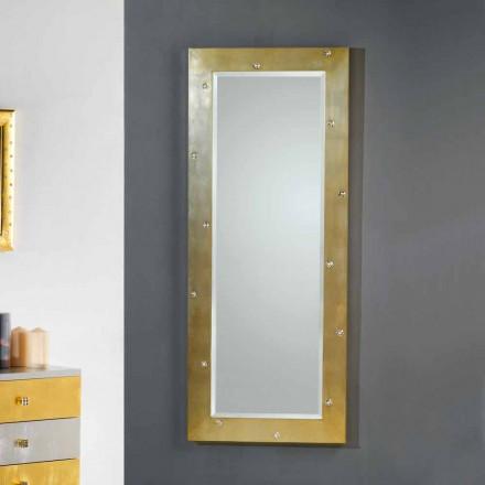 diseño moderno espejo de pared / suelo con cristales de Swarovski