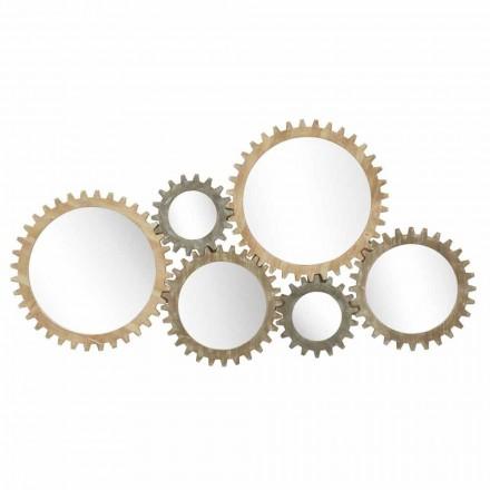 Espejo de pared de diseño moderno con equipo de hierro - Regiano