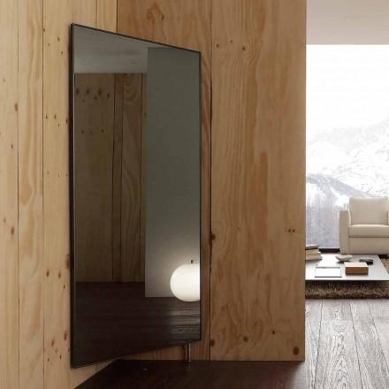 Espejo de pared con puerta que se abre y percheros Made in Italy - Boro