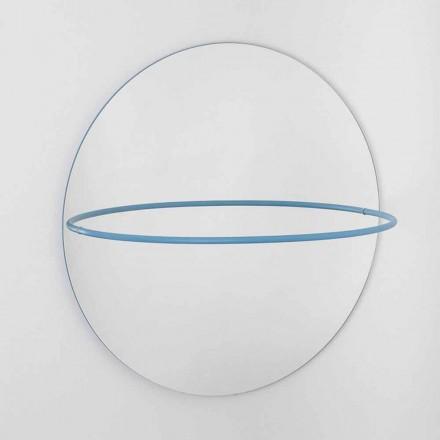 Espejo de pared con perchero de acero moderno Made in Italy - Chioccia