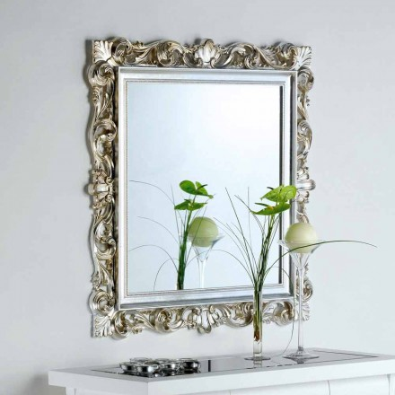 espejo de pared de diseño con marco decorado Marsy, 98x98 cm