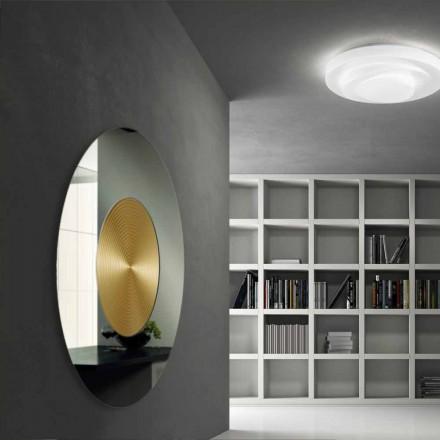 espejo de pared de diseño con soporte de MDF Malva