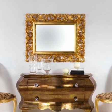 Espejo de pared de diseño final de la hoja de oro Gudin, 108x87 cm
