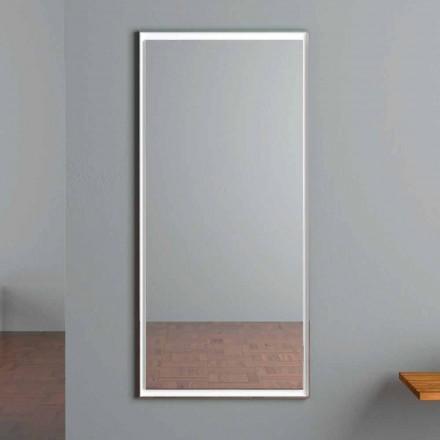 Espejo de pared con iluminación LED y interruptor táctil Made in Italy - Ammar