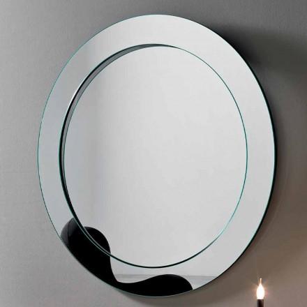 Espejo de Pared Redondo con Marco Inclinado Hecho en Italia - Salamina