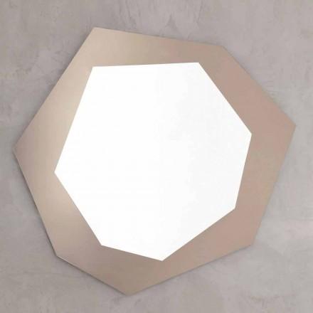 Espejo de pared en forma con marco de vidrio Made in Italy - Cloro