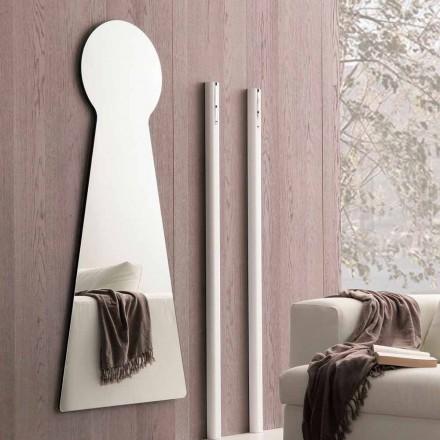 Espejo de pared en forma con panel de melamina Made in Italy - Bromo