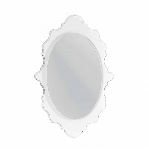Espejo de pared de diseño transparente Joy, hecho en Italia.