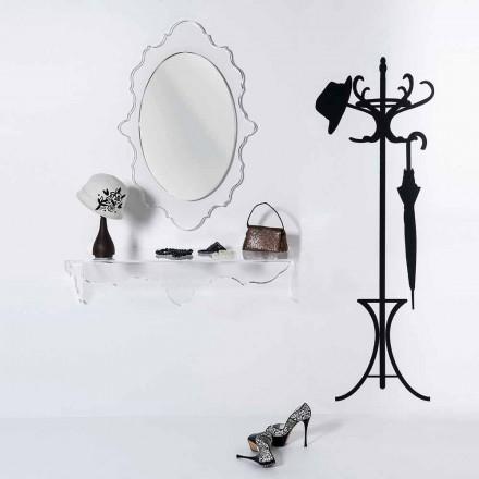 Espejo de pared Joy de diseño transparente, fabricado en Italia