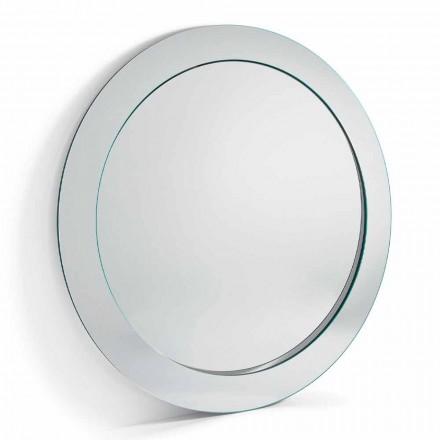 Espejo de Pie Redondo Moderno con Marco Inclinado Hecho en Italia - Salamina