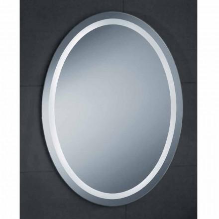 Espejo de diseño moderno con bañera de iluminación LED pura