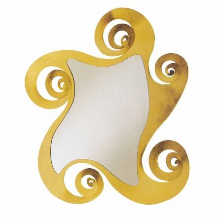 Espejo de pared de diseño moderno con forma de hierro Made in Italy - Pacific