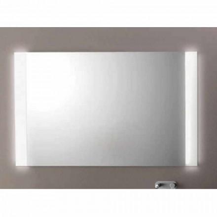 Espejo de baño moderno con luces LED, L1200xh.900 mm, Agata