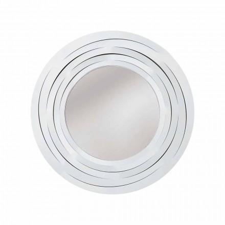Espejo de pared circular moderno en hierro coloreado Hecho en Italia - Orégano