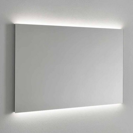 Espejo de pared con retroiluminación LED, marco de acero Made in Italy - Tundra