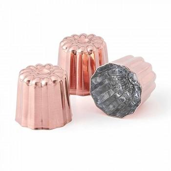6 moldes para pastel de cobre estañado a mano de cobre estañado - Gianvito