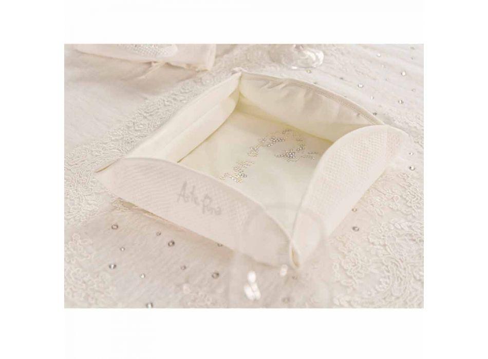 Bandeja de Bolsillo Passepartout Blanco Natural con Cristales, Perlas o Encaje - Sasseo