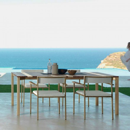 Talenti Casilda mesa de jardín de diseño L260xH76cm hecha en Italia