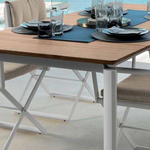 Mesa de jardín extensible Talenti Domino 200/260 cm fabricada en Italia