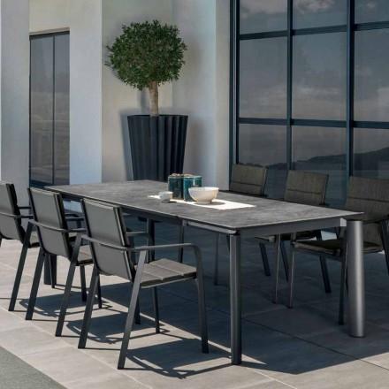Talenti Milo mesa de jardín extensible al aire libre hecha en Italia