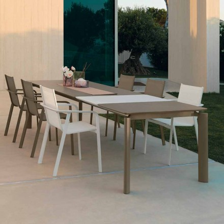 Mesa de comedor extensible para exterior Talenti Milo fabricada en Italia