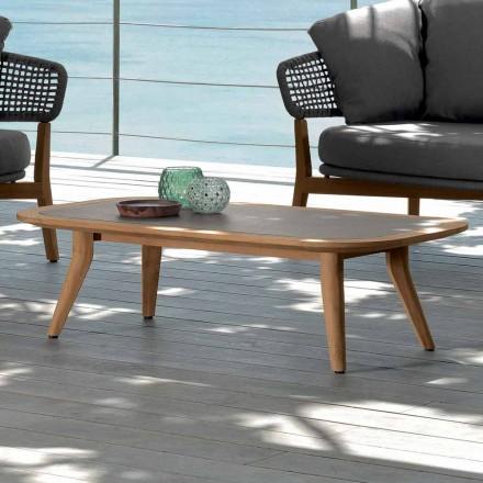 Mesa de jardín Talenti Moon de diseño moderno hecha en Italia.