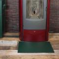 Alfombrilla de cuero para chimenea/estufa modelo Virgilio