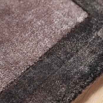 Alfombra con bordes de algodón y viscosa coloreada para sala de estar - Planetario