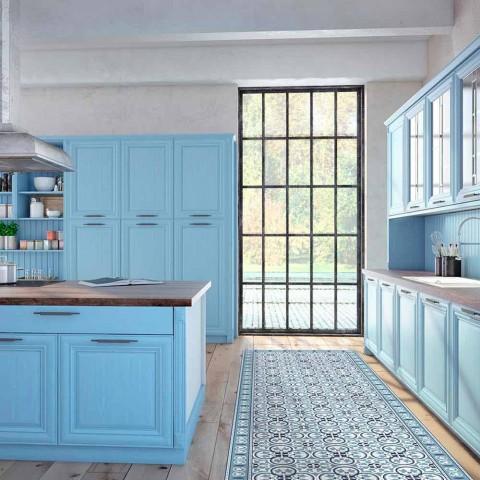 Alfombra de cocina moderna con motivos en PVC y poliéster - Lindia