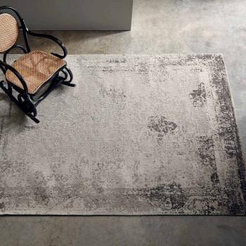 Alfombra de salón de diseño vintage hecha de poliéster y algodón - Hola