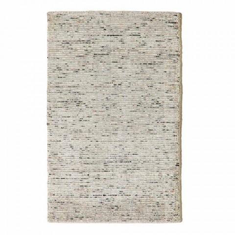 Alfombra de sala de estar en algodón, viscosa y lana producida en telar manual - Melita
