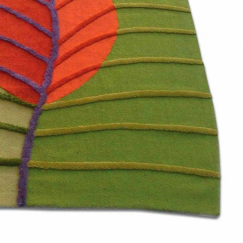 Alfombra de salón de lana tejida a mano Made in Italy - Posillipo