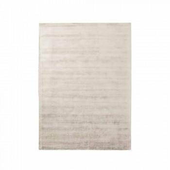 Alfombra moderna para sala de estar de algodón y viscosa, tejida a mano - Sedoso