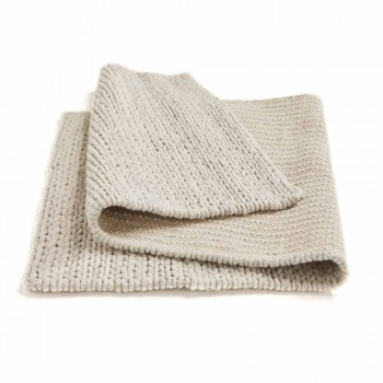 Alfombra moderna de poliéster y algodón tejida a mano para salón - Tabatha