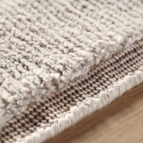 Alfombra de diseño moderno y coloreado en seda y algodón 2 Dimensiones - Zefiro