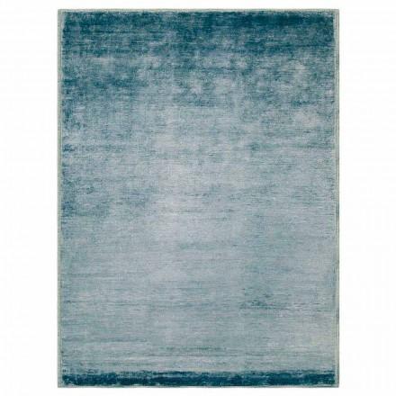 Alfombra de diseño moderno y coloreado en algodón y seda 2 Dimensiones - Zefiro