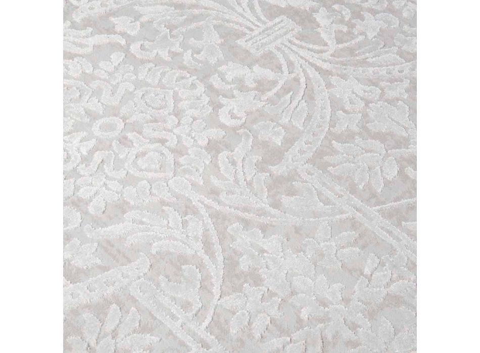Alfombra de diseño con diseño beige en poliéster y viscosa - Occitania