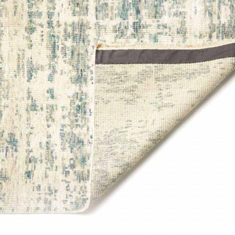 Alfombra de diseño tejida a mano en lana y algodón para salón - Cobre