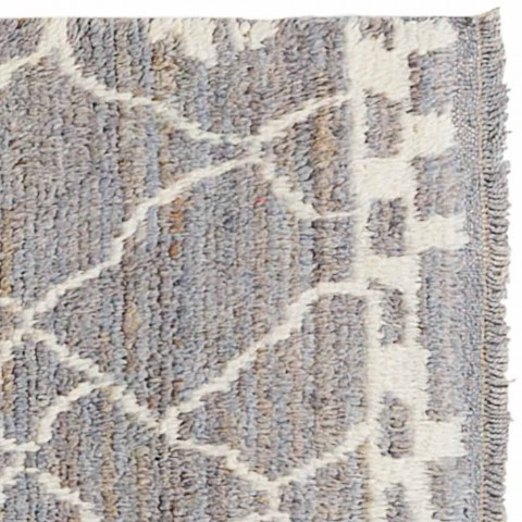 Alfombra de lana de pelo largo hecha a mano anudada a mano en Turquía - Benedetta