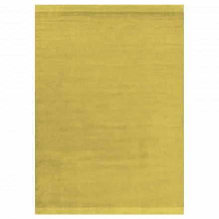 Alfombra grande de color y diseño moderno en seda y lana con banda - Mezcla